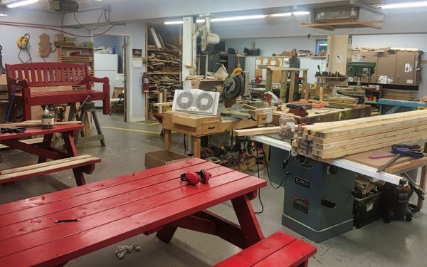 Photo of woodworking shop